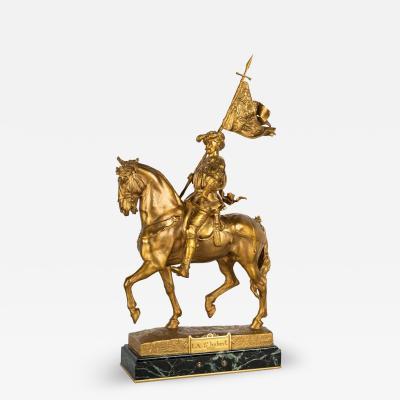 Emmanuel Fremiet 19th Century Gilt Bronze by Emmanuel Fremiet