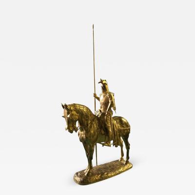 Emmanuel Fremiet Gilt Bronze Statue of Louis dOrleans