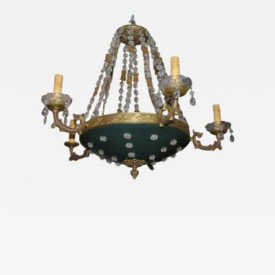 Empire Chandelier with Crystal Insets
