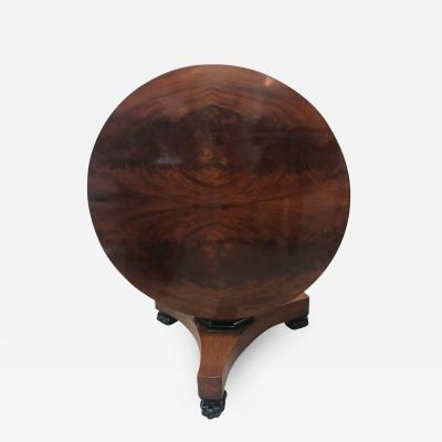 Empire Mahogany Tilt Top Dining Table 19th Century