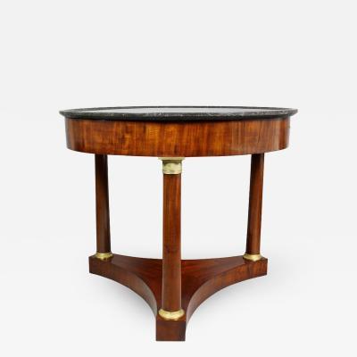 Empire Mahogany and Bronze Mounted Center Table