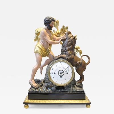 Empire Mantle Clock of Hercules and the Nemean Lion