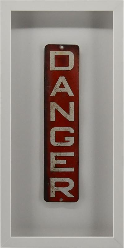 Enamel Danger Sign