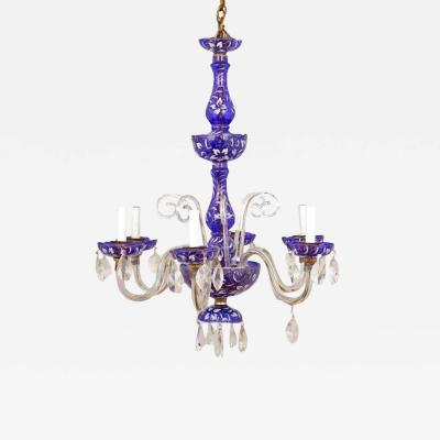 Enameled Bohemia Floral Glass Chandelier