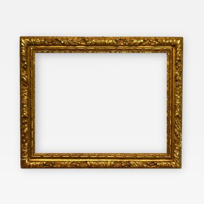 English 17th Century Gilded Carved Lely Picture Frame 26x33