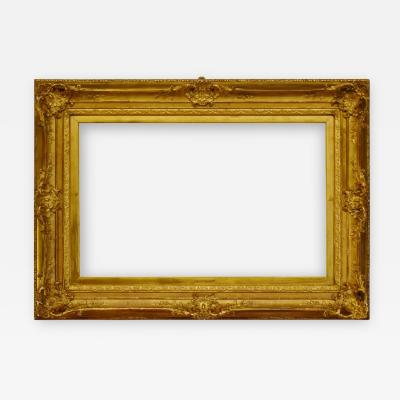 English 1875 Louis XV 8 Shell Gold Leaf Picture Frame 18x28