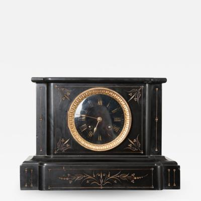 English 19th Century Aesthetic Movement Marble Mantel Clock