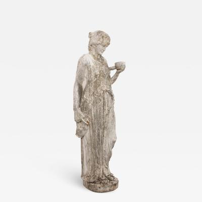 English 19th Century Classical Statue of Hebe