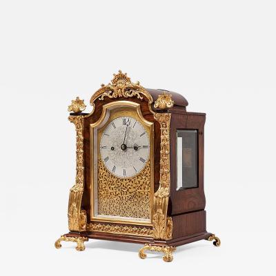 English 19th Century Gold Table Clock