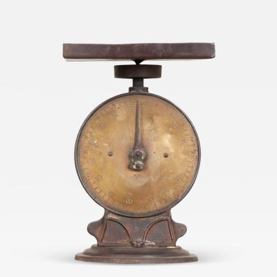 English 19th Century Iron and Brass Culinary Scale