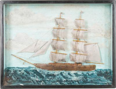 English 19th Century Nautical Diorama