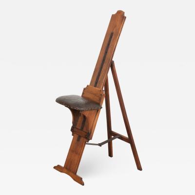 English 19th Century Oak Artist s Chair