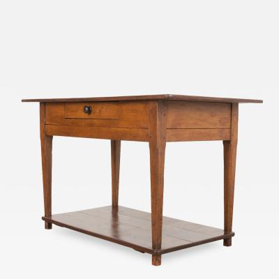 English 19th Century Oak Work Table