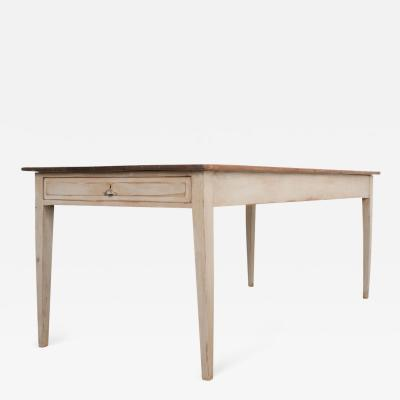 English 19th Century Painted Pine Farm Table
