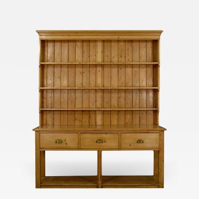 English 19th Century Pine Pot Board Dresser
