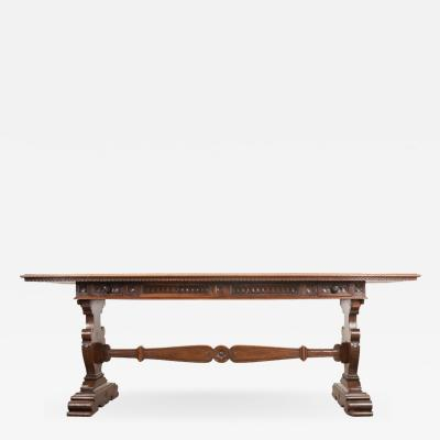English 19th Century Regency Classicism Library Table
