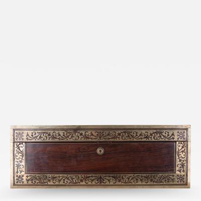 English 19th Century Rosewood Writing Box