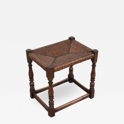 English 19th Century Rush Seat Stool