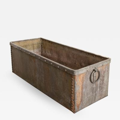 English 19th Century Zinc Trough