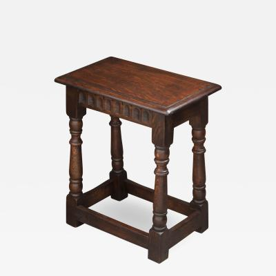 English 20th Century Oak Joint Stool
