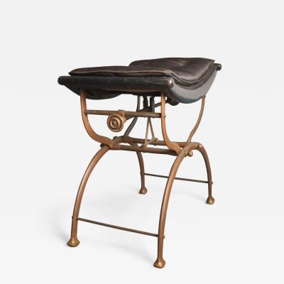 English Art Deco Adjustable Bronze Bench
