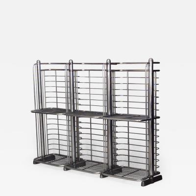 English Art Deco Aluminum 3 Section Bakers Rack