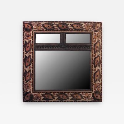 English Art Nouveau Wall Mirror
