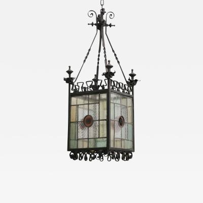 English Arts and Crafts Hanging Lantern
