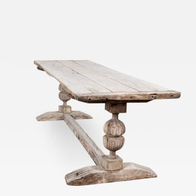 English Bleached Oak Refectory Table