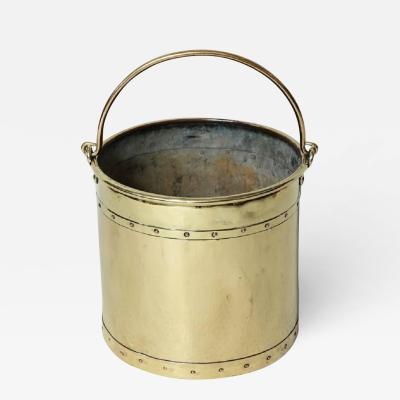 English Brass Bucket