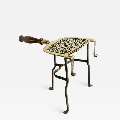 English Brass and Iron Pierced Trivet