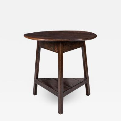 English Brown Oak Cricket Table