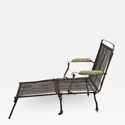 English Campaign Chair Bed