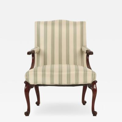 English Chippendale Mahogany Lolling Chair late 18th Century