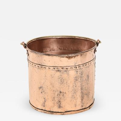 English Copper Apple Bucket