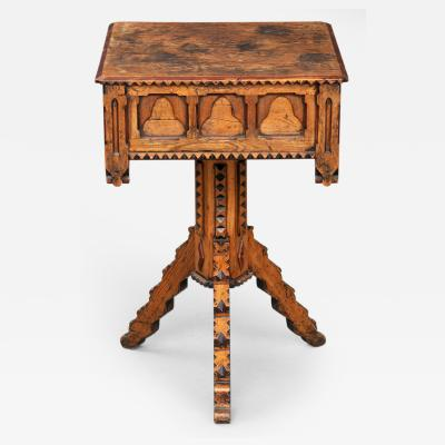 English Country Gothic Pine Center Table