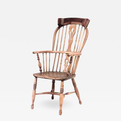 English Country Pine Windsor Arm Chair