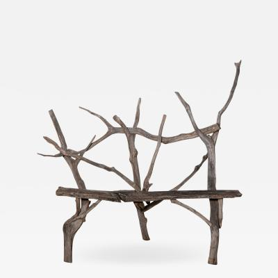 English Country Reclaimed Driftwood Garden Bench