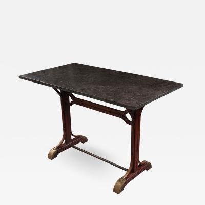 English Early 20th Century Marble Top Pub Table