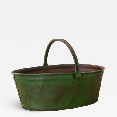 English Early 20th Century Painted Metal Harvest Trug