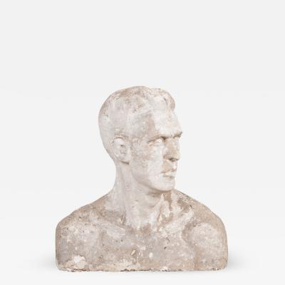 English Early 20th Century Plaster Bust