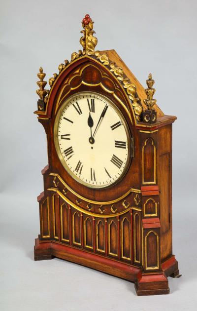 English Gothic Fusee Clock
