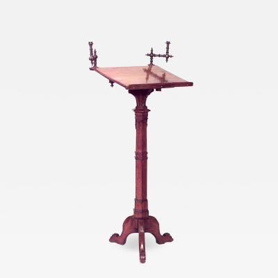 English Gothic Revival Wood Lectern