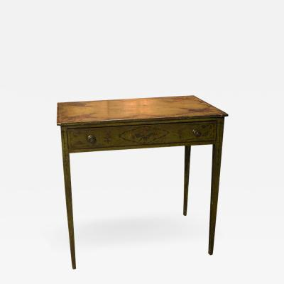 English Hand Painted Writing Table