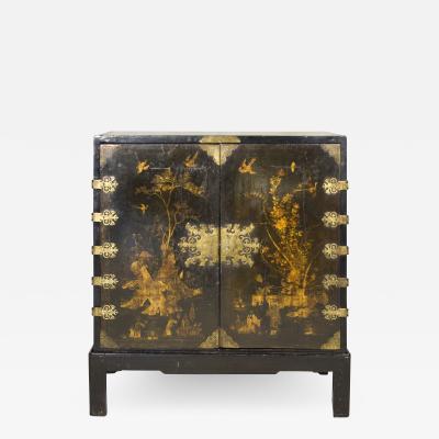 English Lacquered Cabinet on a Contemporary Base circa 1700 England