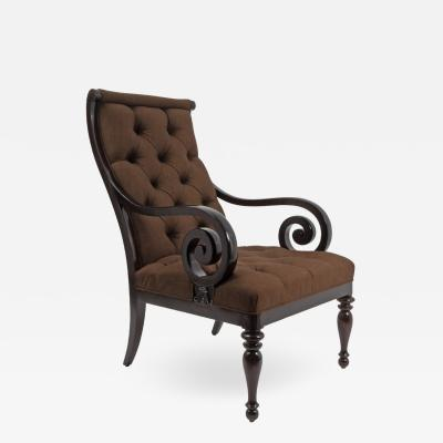 English Library Chair 19th Century