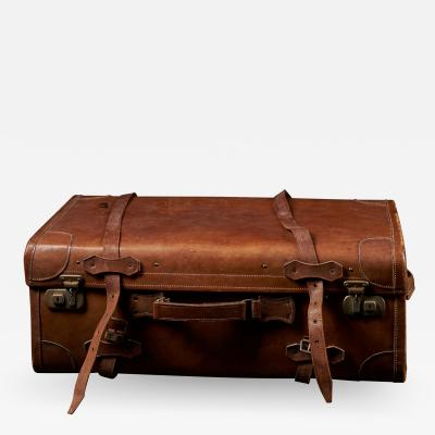 English Made Gentlemans Fine Leather Suitcase