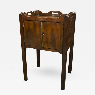 English Mahogany Bedside Table