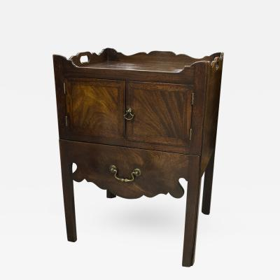 English Mahogany Side Table Cupboard