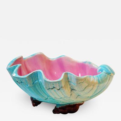 English Majolica Clam Shell Bowl Circa 1880